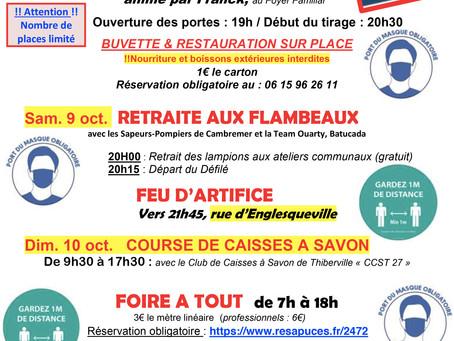 8 > 10 octobre 2021 : Fête St Denis