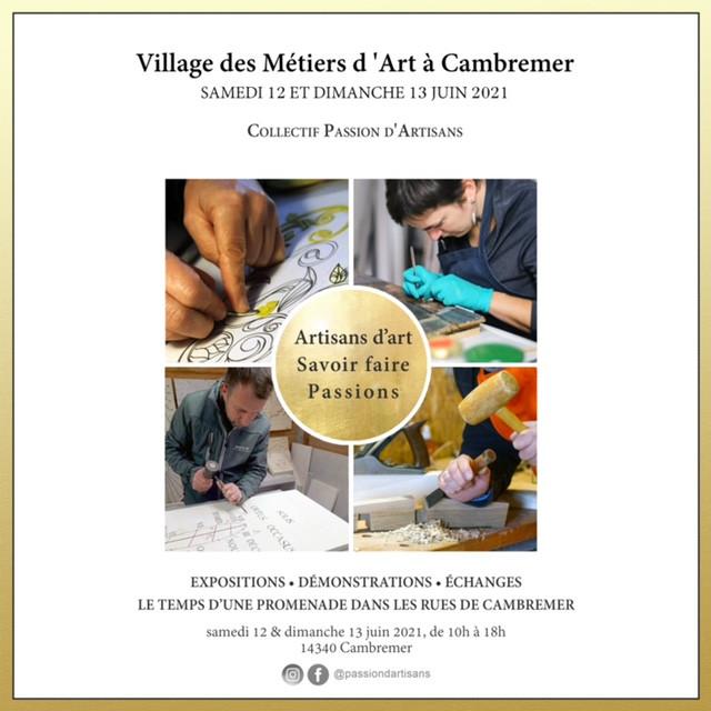 12 et 13 juin : village des métiers d'art à Cambremer, avec Passion d'Artisans