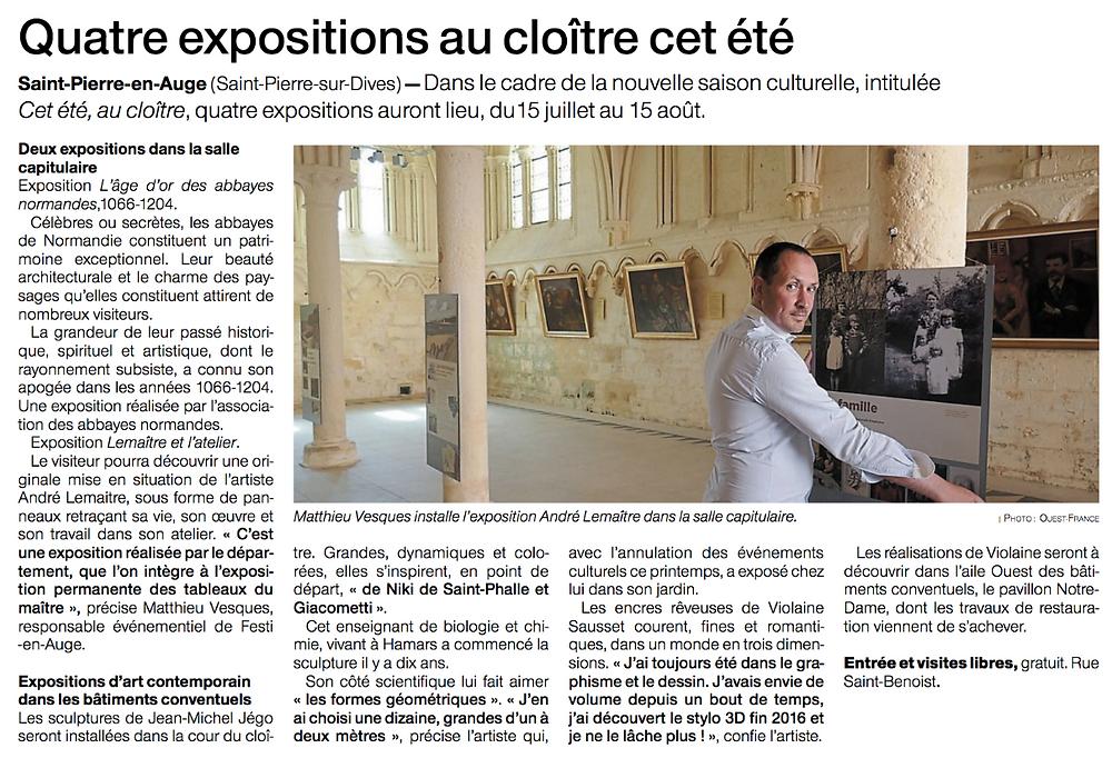 Expositions dans les bâtiments conventuels de St Pierre-sur-Dives
