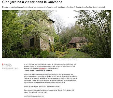 Les 5 jardins à visiter dans le Calvados