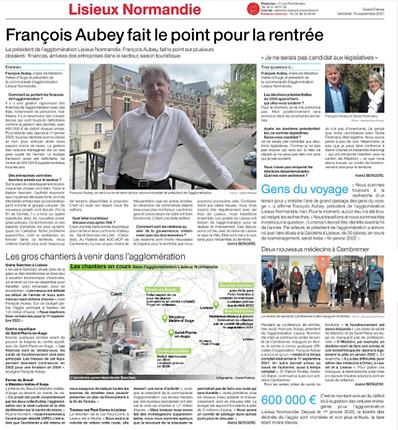 François Aubey fait le point pour la rentrée