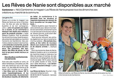 Jouets En Bois - Ouest France - Juillet