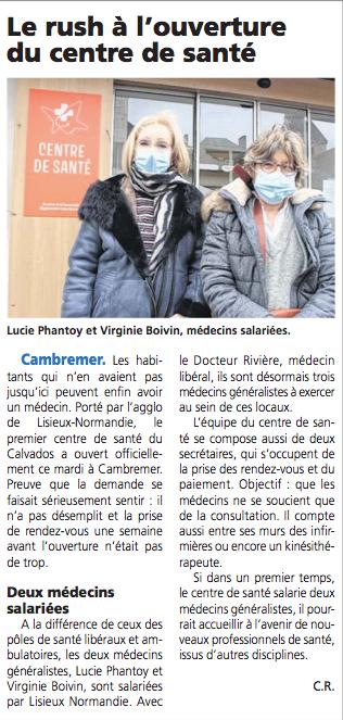 Cambremer : Centre De Sante-LPA-2021-02-26