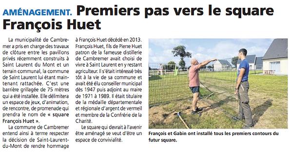 Square François Huet - Le Pays d'Auge -