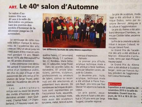 Salon d'Automne de l'Académie des Arts de Lisieux : le palmares