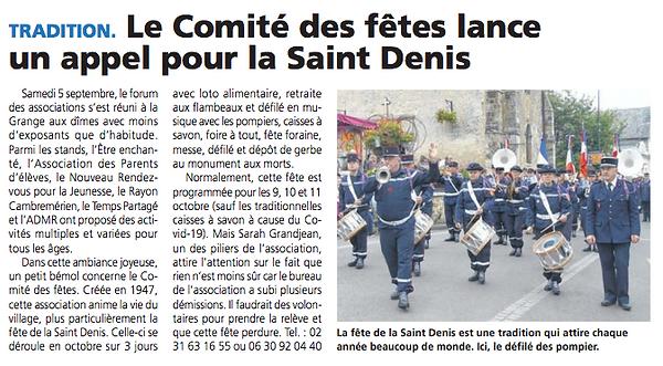 Fête St Denis - Le Pays d'Auge - Septemb