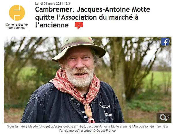 Marche a l'ancienne de cambremer - ouest france - 2021-03-02
