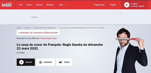 Coup de coeur de François Regis Gaudry :