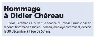Hommage à Didier Chéreau