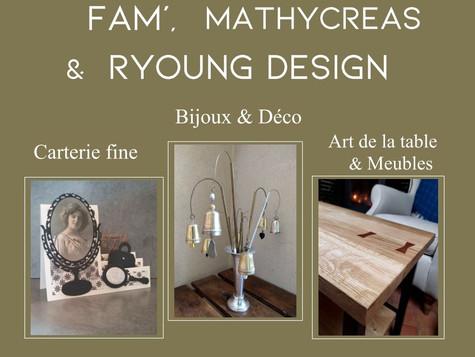 Les rendez-vous de la Grange aux Dîmes : 4 - 10 Août. FAM', Mathycreas et Ryoung Design