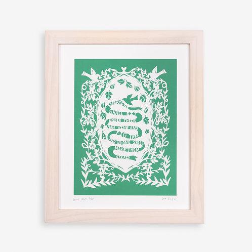 Annie Howe Papercuts Vine and Fig Tree print