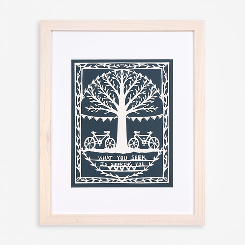 Annie Howe Papercuts Bikes and Tree Laser Cut