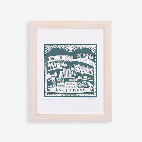 Annie Howe Papercuts Baltimore print