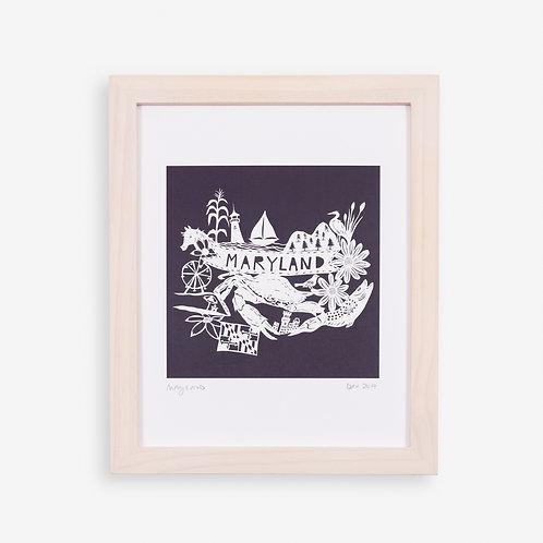 Annie Howe Papercuts Maryland print