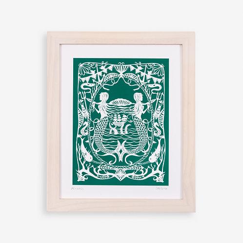 Annie Howe Papercuts Mermaid print