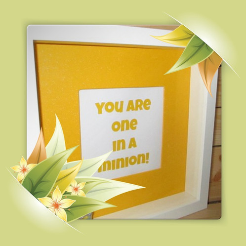 Bespoke Handmade Box Picture Frame Minions/Despicable Me Ideal Gift ...