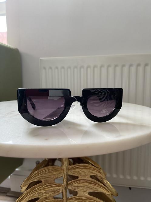 Black half cut sunglasses