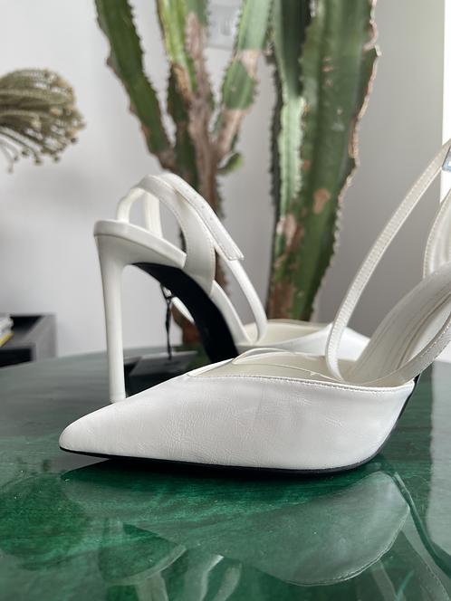 Bershka faux leather and vinyl heels