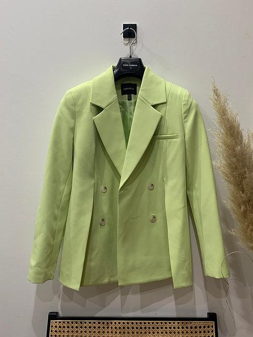 Green blazer with front splits