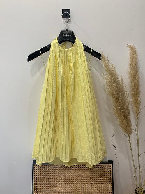 Zara pleated halter dress