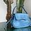 Thumbnail: Blue faux croc handbag