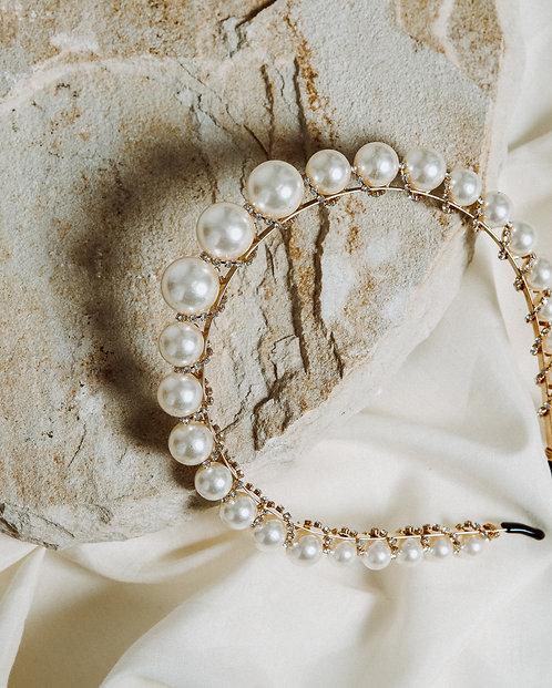 Pearl diamante headband