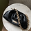Thumbnail: Faux leather chain ruched bag