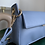 Thumbnail: Blue faux leather baguette