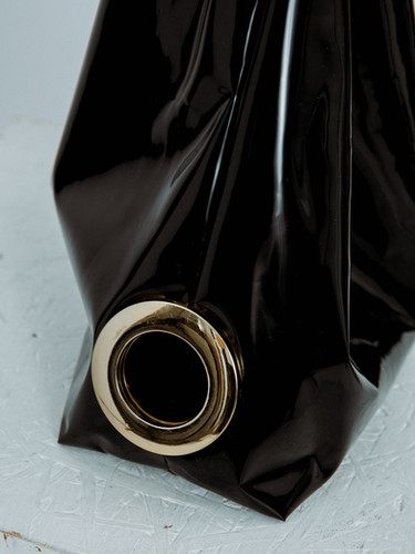 Faux leather carrier bag