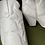 Thumbnail: White faux leather cowboy boots