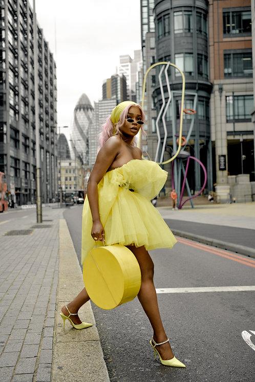 'Romeo's Fashion Fix x Coast' Yellow Tulle Dress