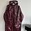 Thumbnail: ASOS burgundy vinyl coat