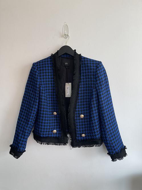 River Island crop houndstooth jacket