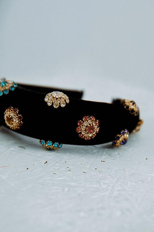 Embellished velvet headband