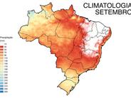 Registros de Precipitação e Temperaturas do mês de setembro