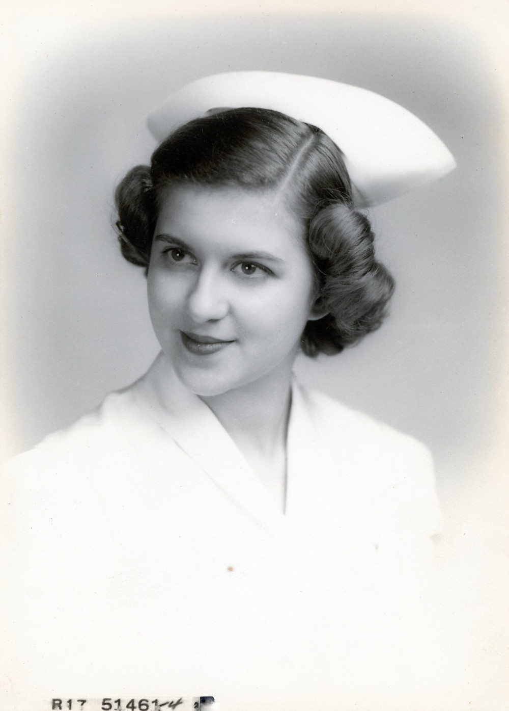 Josephine Purpura in nurses uniform