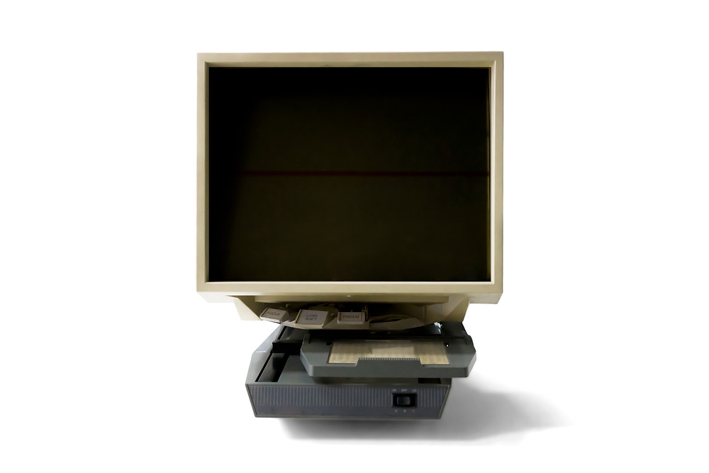 Electric microfiche reader