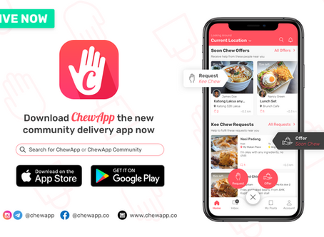 ChewApp Launches with #KeeChewSaveHawkers to Help Hawkers, Deliverers, Consumers