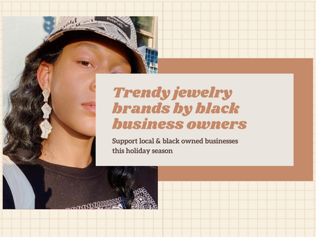 Black owned businesses that sell trendy jewelry