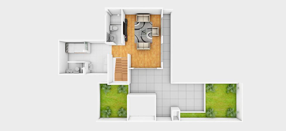 Dúplex 702 - 183.43 m2 | segundo nivel