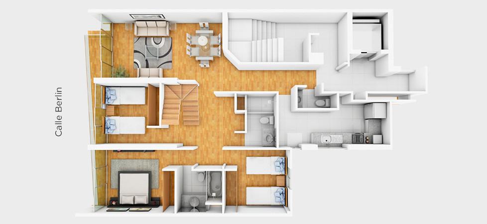 Dúplex 701 - 221.23 m2 | primer nivel