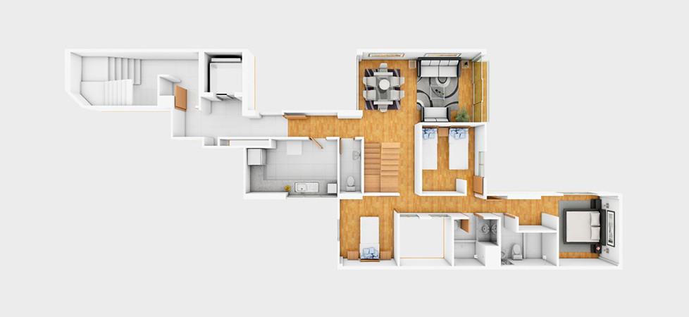 Dúplex 702 - 183.43 m2 | primer nivel