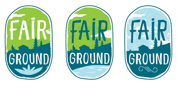 logo for Fair Ground Great Barrington, ma by mohodesigns graphic designer