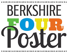 Logo for Berkshire Four Poster, poster of the Berkshires new England mohodesigns graphic designer