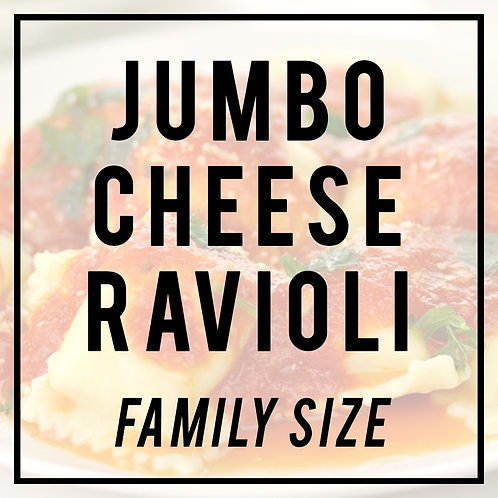 Jumbo Cheese Ravioli in Meat Sauce--FAMILY