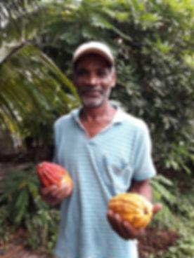 Jamaican cocoa farmer mr Bodie