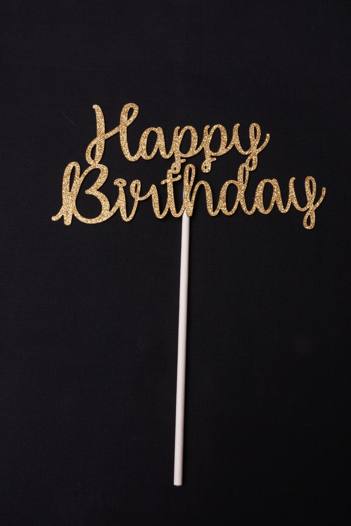 Gold Glitter Cardstock Happy Birthday