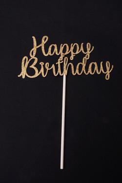 Gold Glitter Cardstock Happy Birthday