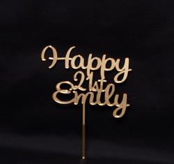 Happy 21st Emily - Gold Mirror