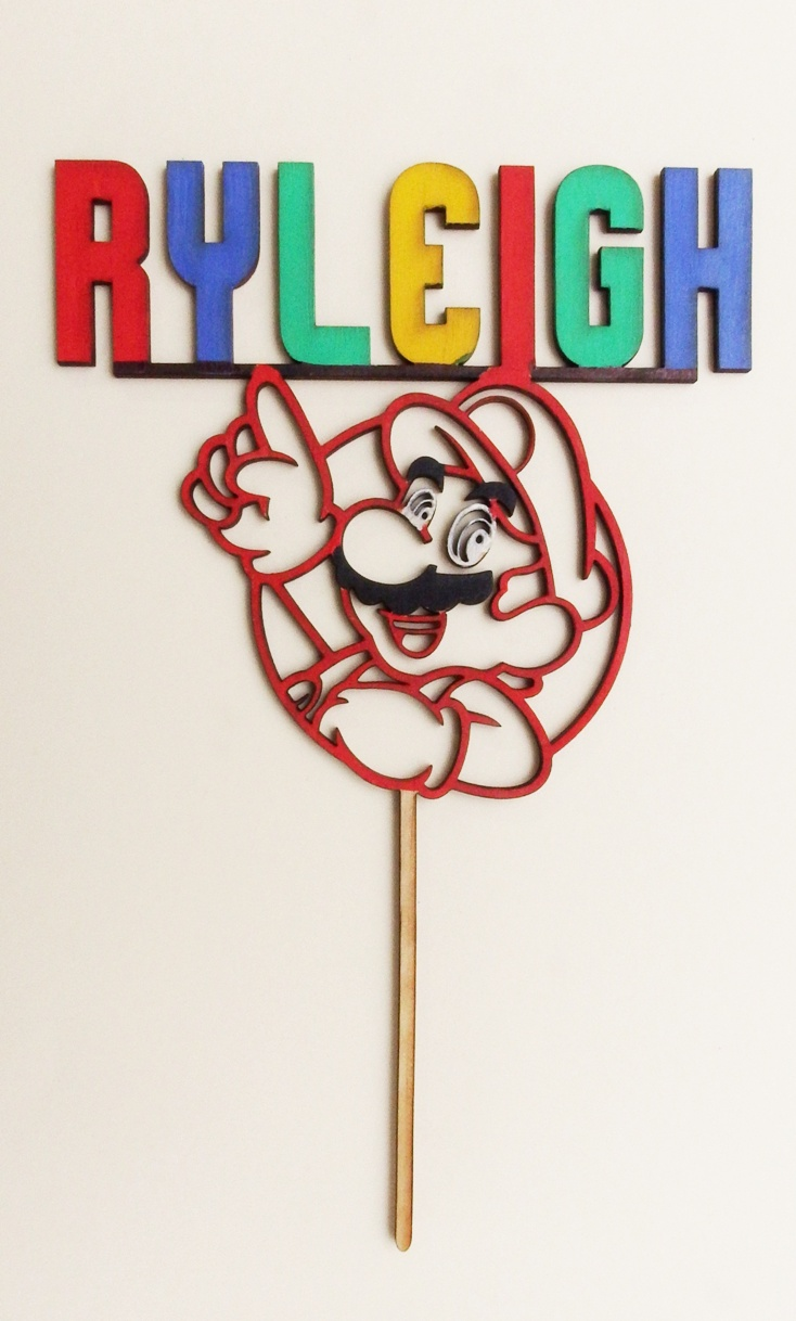 Mario Personalised Cake Topper